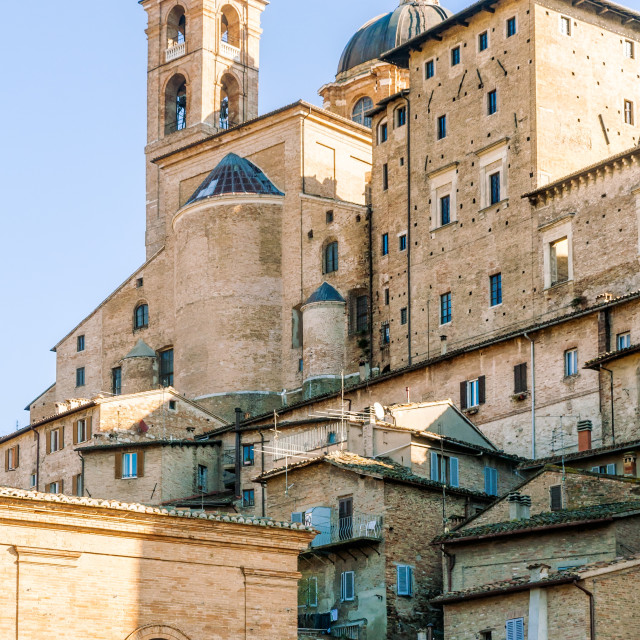"""Ducale Palace in Urbino city, Marche, Italy"" stock image"