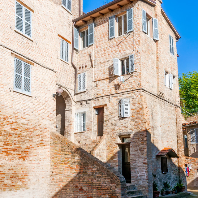 """House in a Street of Urbino"" stock image"