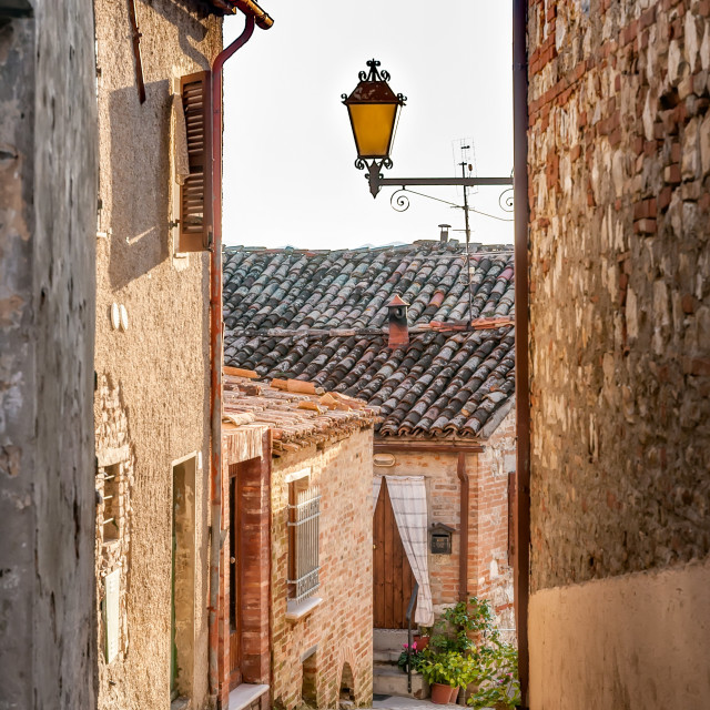 """Old Little Italian House"" stock image"