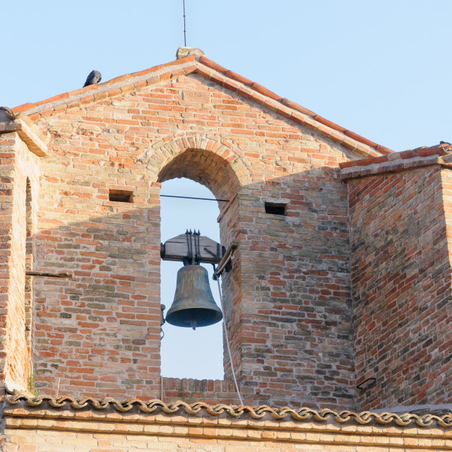"""Detail of the Tower Bell of Monteguiduccio"" stock image"