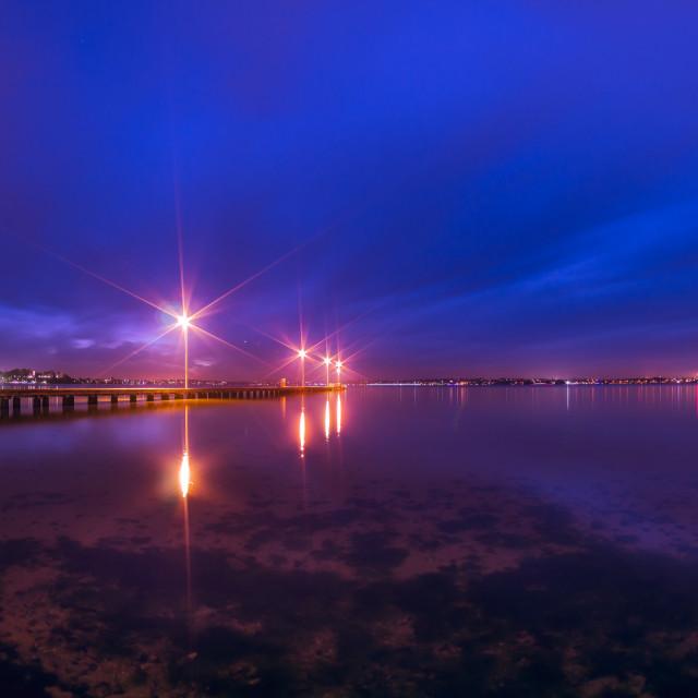 """Como Jetty at Night, Perth City Western Australia"" stock image"