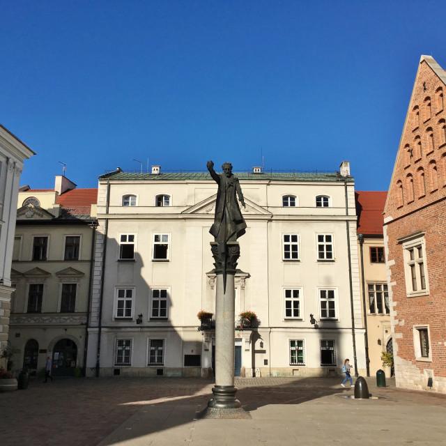 """""""Plac Św. Marii Magdaleny, Krakow"""" stock image"""