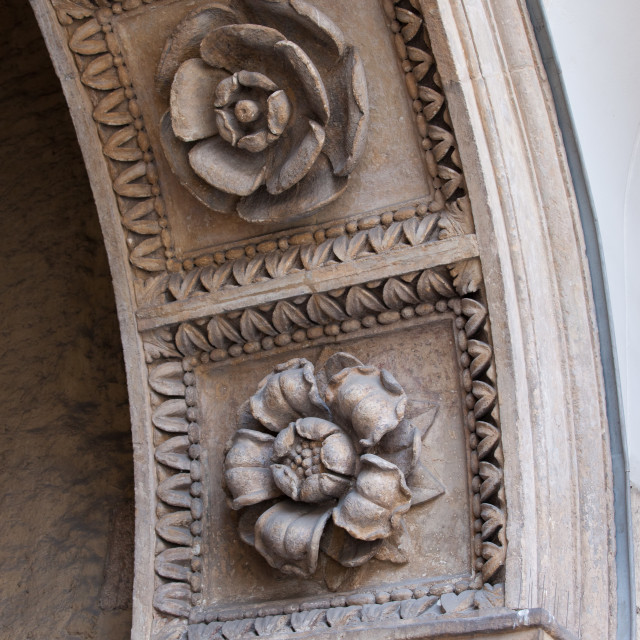 """""""Flowers Carvings"""" stock image"""
