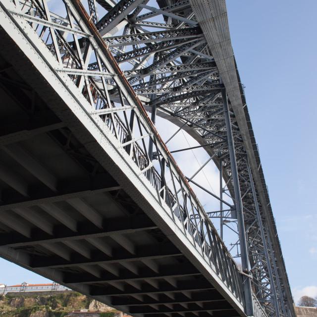 """Dom Luis I Bridge in Porto"" stock image"