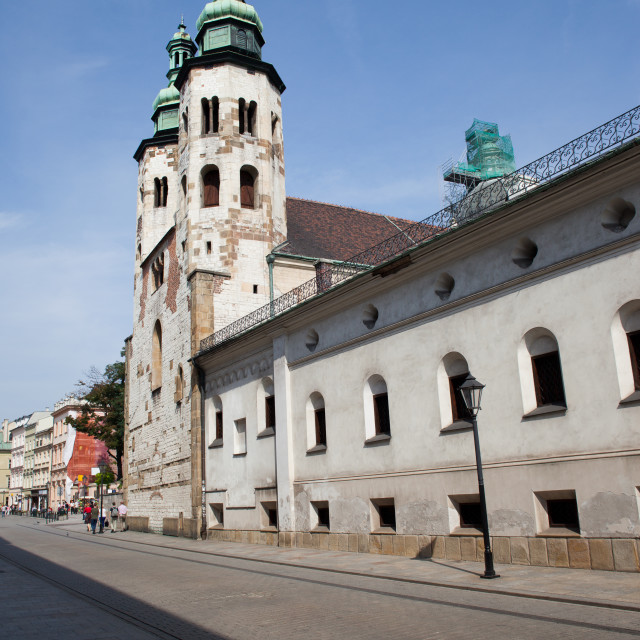 """""""Church of St. Andrew in the Old Town of Krakow"""" stock image"""