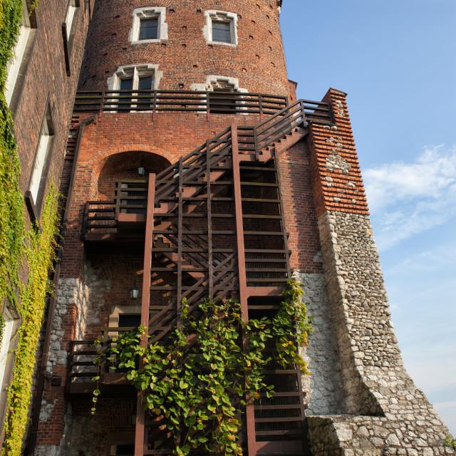 """""""Sandomierska Tower at Wawel Castle in Krakow"""" stock image"""