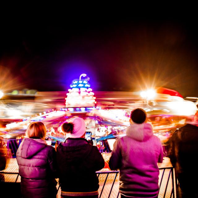 """Close Encounters fairground ride"" stock image"