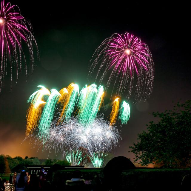 """Wicksteed fireworks 2"" stock image"