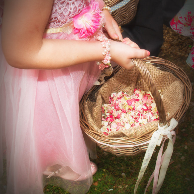 """""""Flower Girl"""" stock image"""
