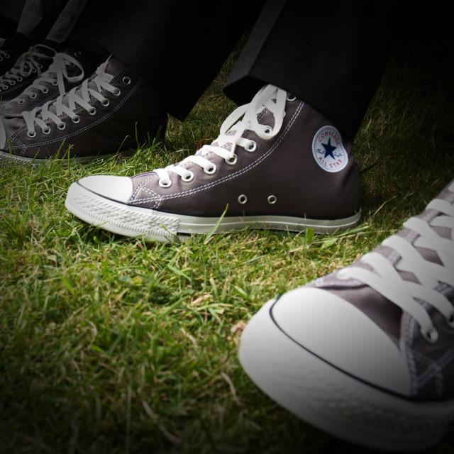 """Grey Converse"" stock image"