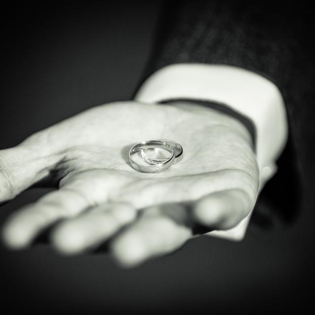 """Wedding rings"" stock image"