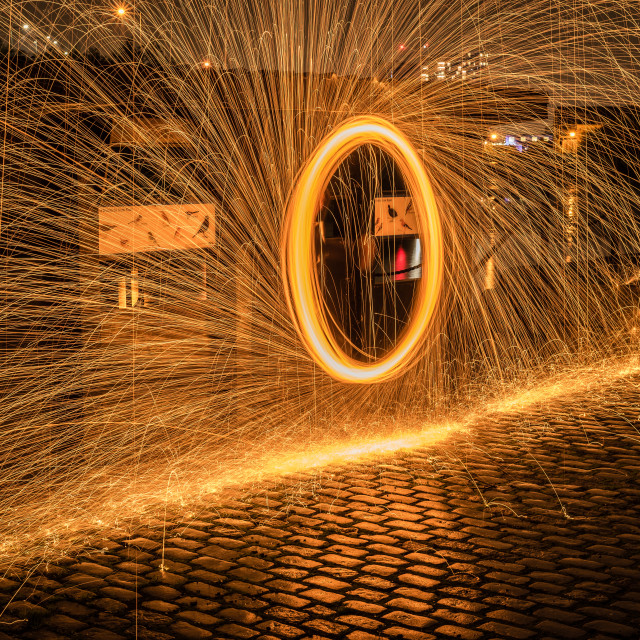 """Steel Wool Spinning"" stock image"