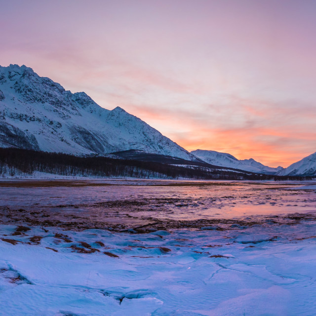 """""""Mid-day north of the arctic circle"""" stock image"""