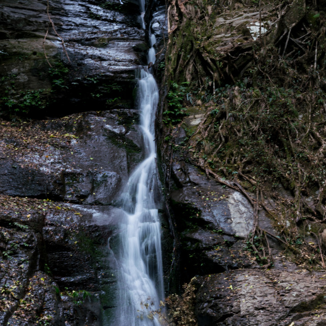 """Cascade Falls_Macquarie Pass"" stock image"