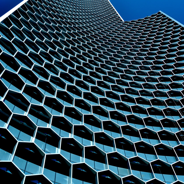 """""""Honeycomb Office Tower"""" stock image"""