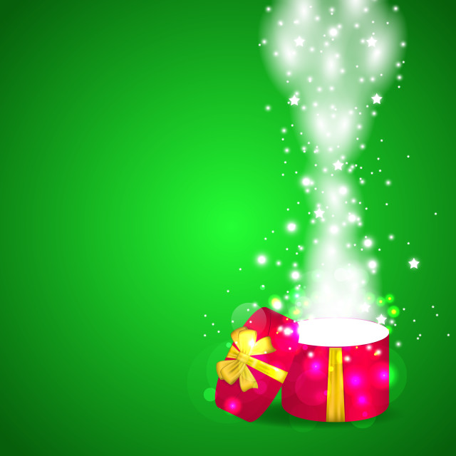 """""""Christmas open magic gift box with copy space"""" stock image"""