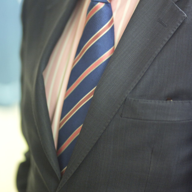 """Groom in civil wedding suit"" stock image"