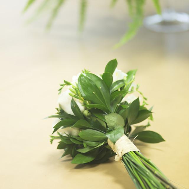 """Civil wedding bridal bouquet"" stock image"