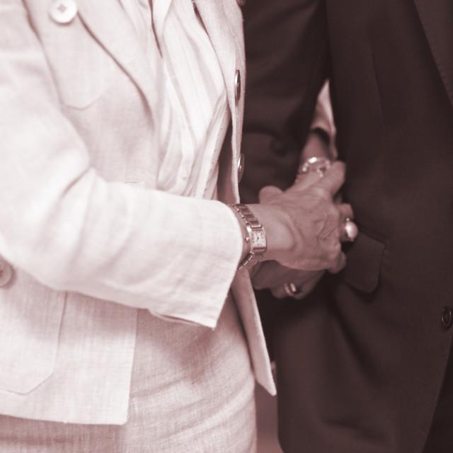 """Civil wedding guests"" stock image"