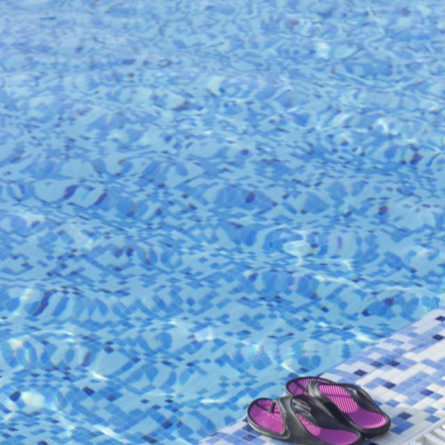 """Swimming pool summer vacation"" stock image"