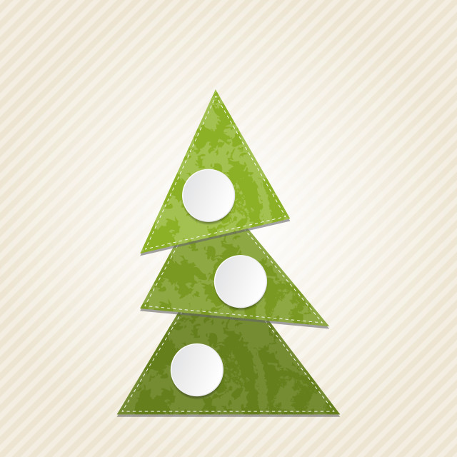"""Christmas abstract tree, minimal style"" stock image"