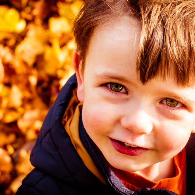 """Autumn boy"" stock image"