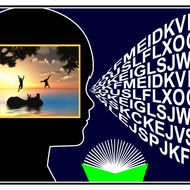 """""""Visual Imagery while Reading"""" stock image"""