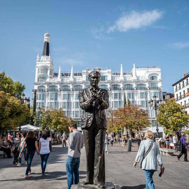 """Square of Saint Ann Santa Ana in Madrid"" stock image"