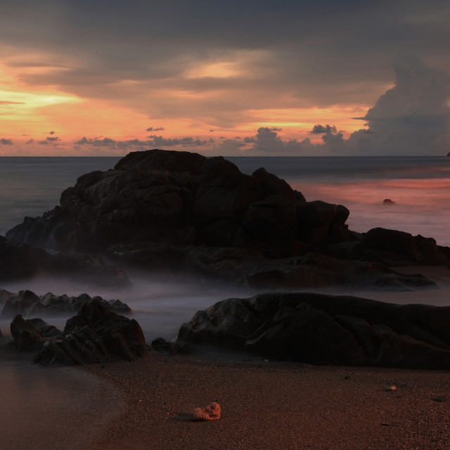 """Seascape at dusk in Phuket"" stock image"