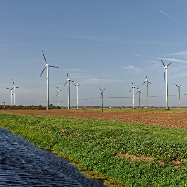 """Wind Turbines,UK"" stock image"