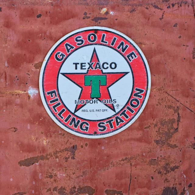 """Texaco Sign an American oil."" stock image"