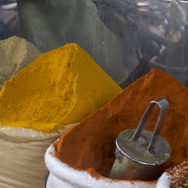 """""""Stacks of spices"""" stock image"""
