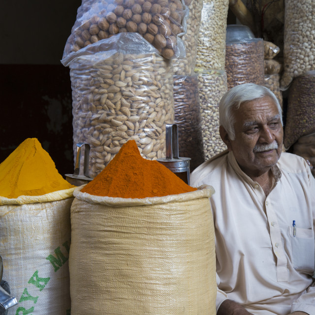 """""""Stacks of spices Seller"""" stock image"""