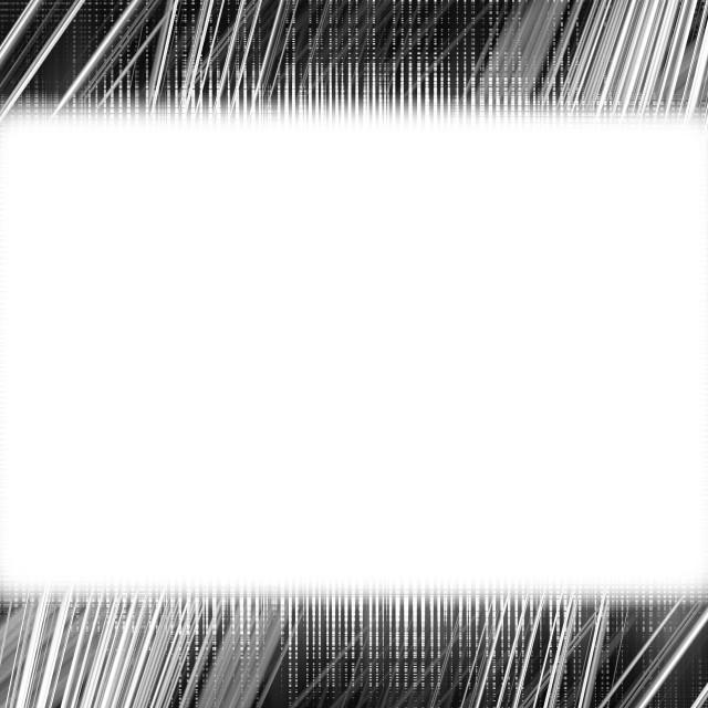 """Black and white light trails frame"" stock image"