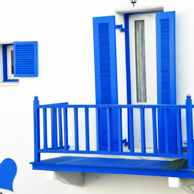 """Blue shutters"" stock image"