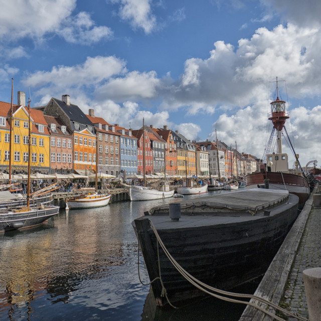 """The Nyhavn Canal in Copenhagen"" stock image"