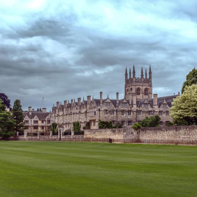 """Merton Field - Oxford"" stock image"