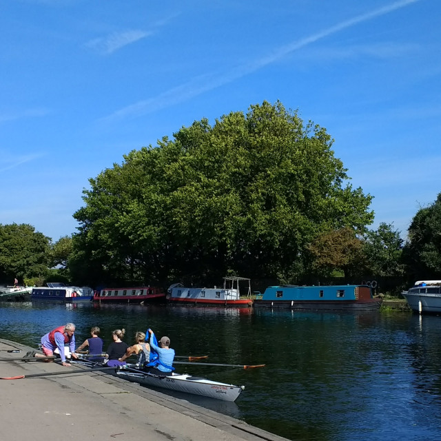 """""""Lea Valley Rowing Club, London"""" stock image"""