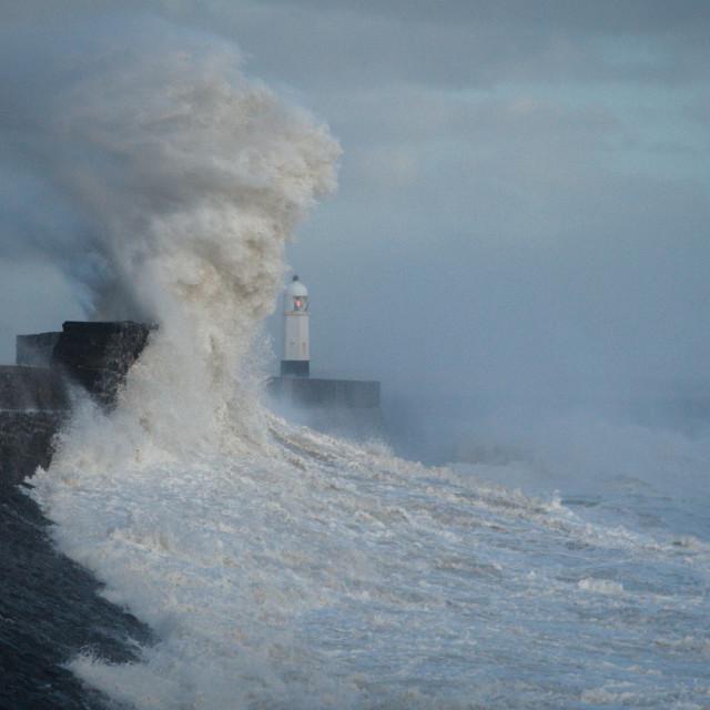 """Storm Ophelia Waves"" stock image"