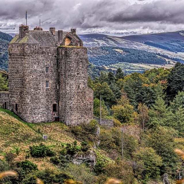 """""""Neidpath Castle"""" stock image"""