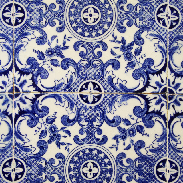 """Traditional portuguese tile. Blue"" stock image"