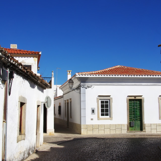 """street of S Bras Alportel, Portugal"" stock image"