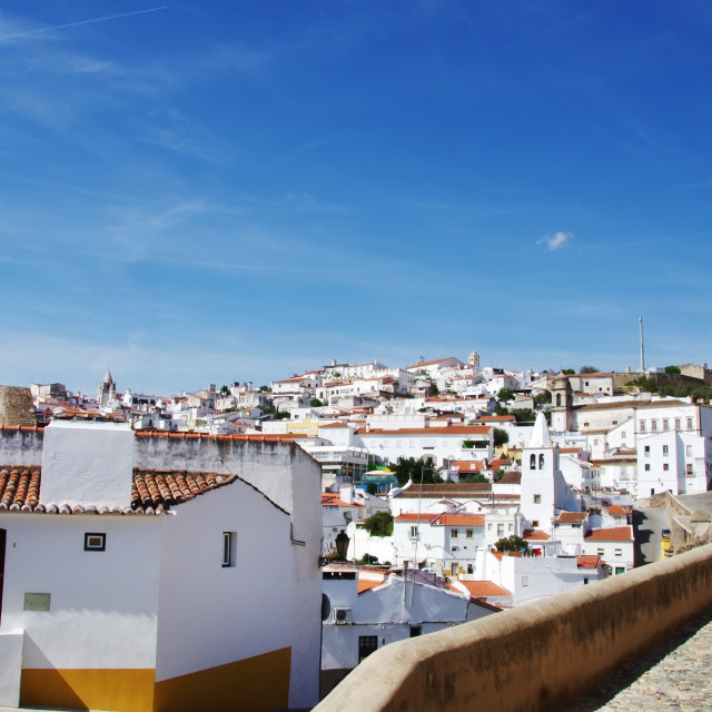"""Old city of Elvas, Alentejo, Portugal."" stock image"