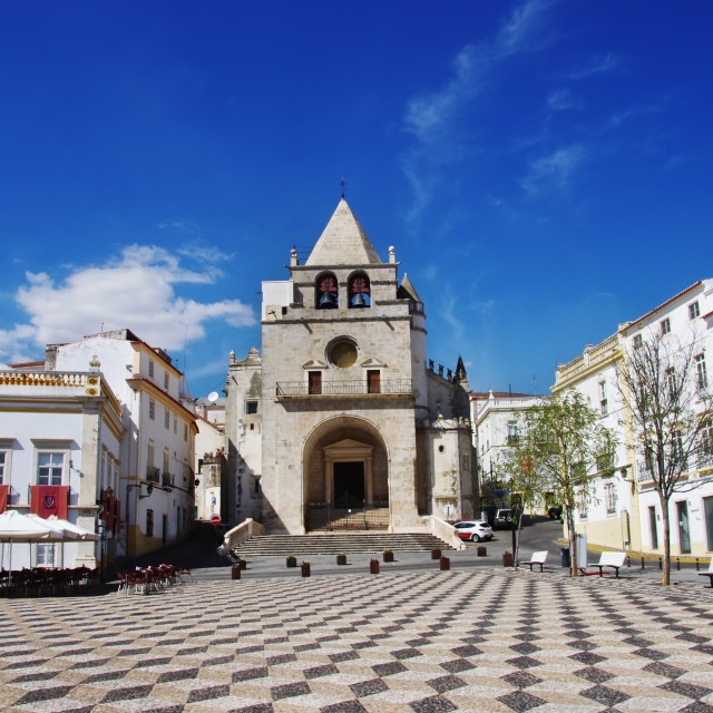 """square in the town of Elvas. Alentejo Region. Portugal"" stock image"
