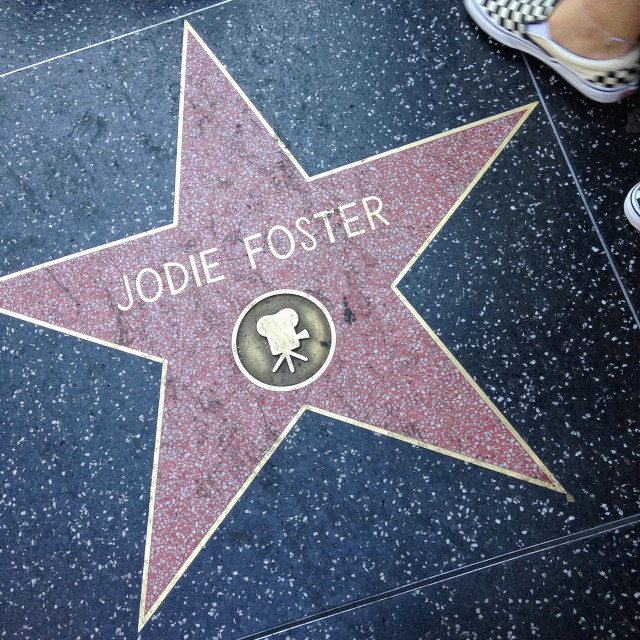 """""""Jodie Foster Hollywood walk of fame star."""" stock image"""