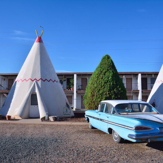 """""""Wigwam motel on historic route 66"""" stock image"""