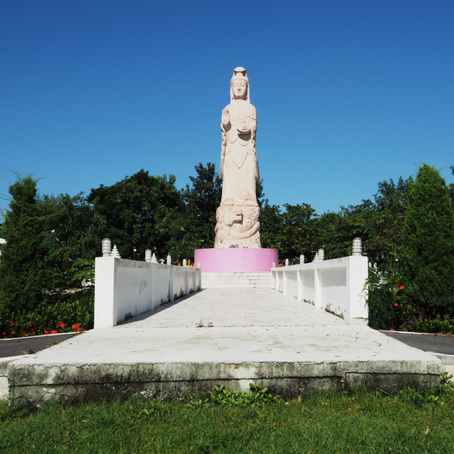 """Goddess of Mercy Kwan Yin"" stock image"