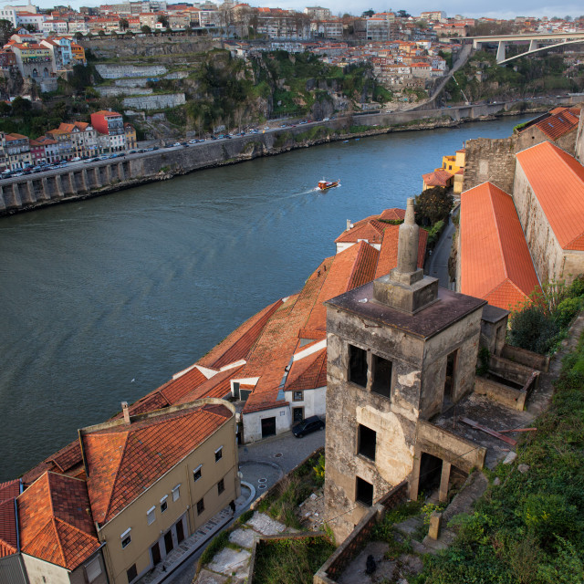 """Vila Nova de Gaia and Porto in Portugal"" stock image"