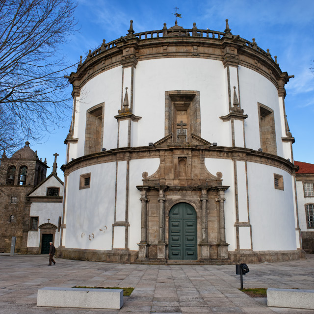 """Church of Monastery of Serra do Pilar in Portugal"" stock image"