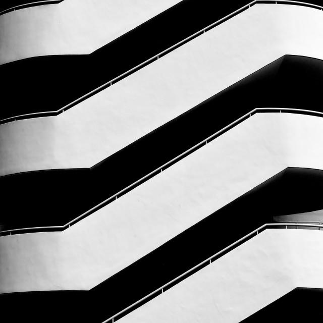 """""""Zebra Staircase"""" stock image"""